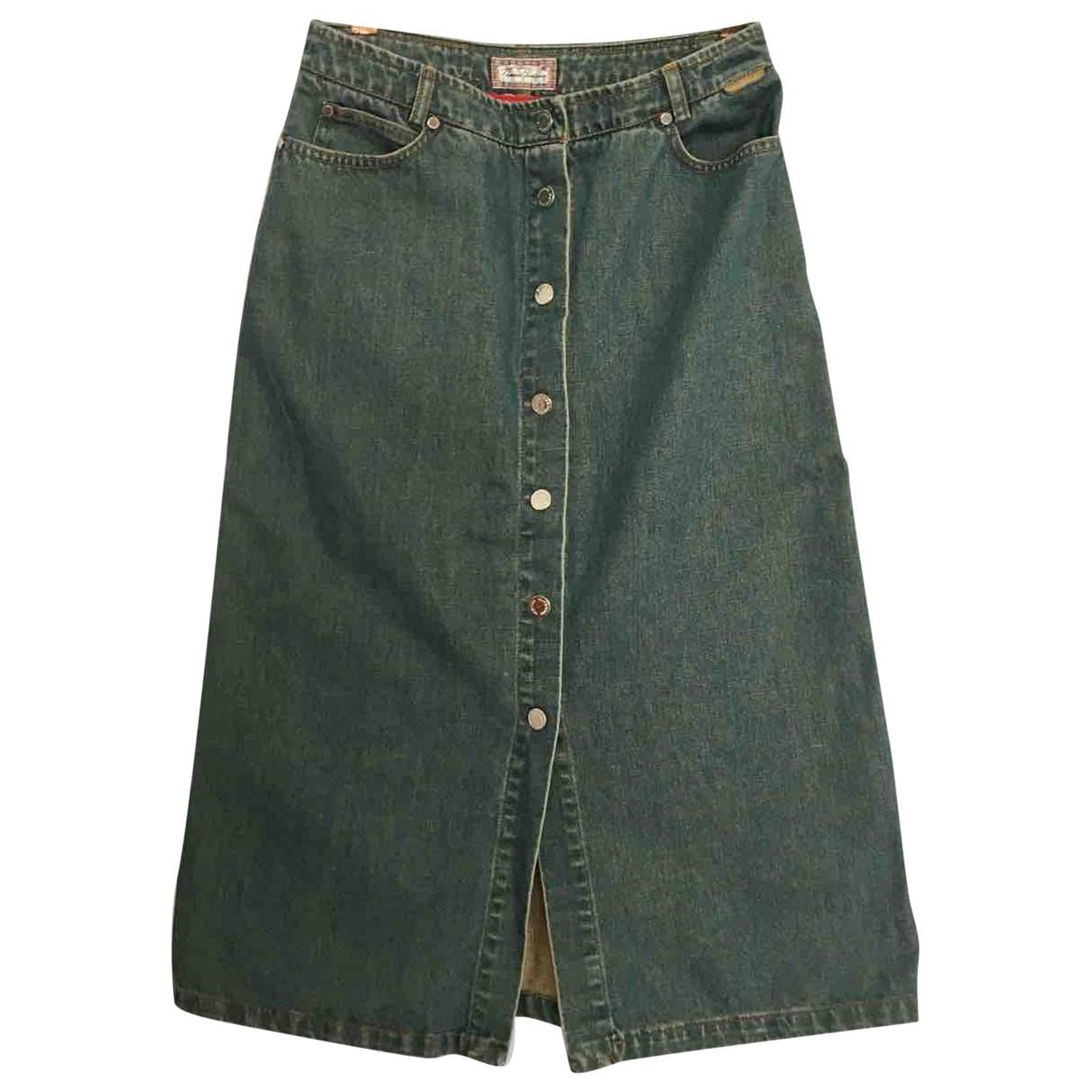 Burberry \N Blue Denim - Jeans skirt for Women 10 UK