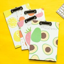 1pc Fruit Print Random Clipboard