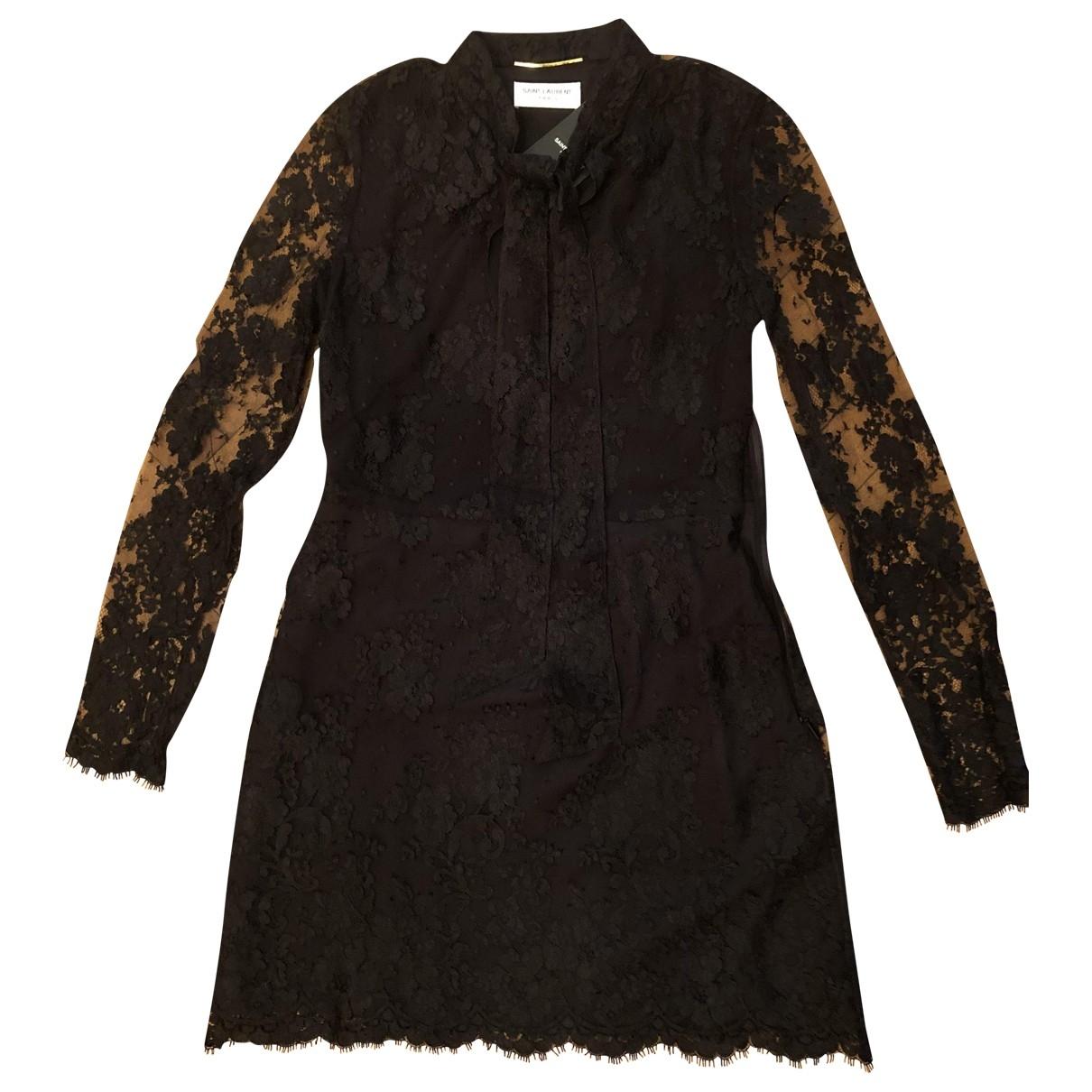 Yves Saint Laurent \N Black Lace dress for Women 36 FR