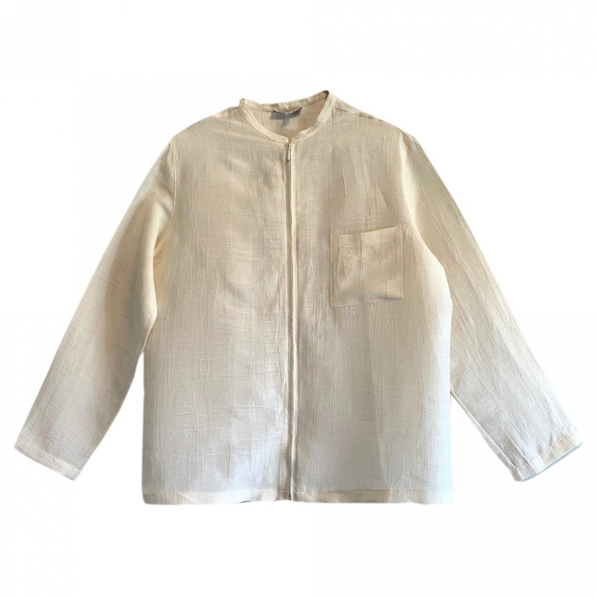 Non Signé / Unsigned \N White Linen jacket for Women S International