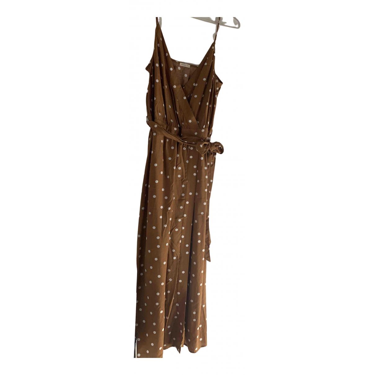 Oysho \N Kleid in  Gold Viskose