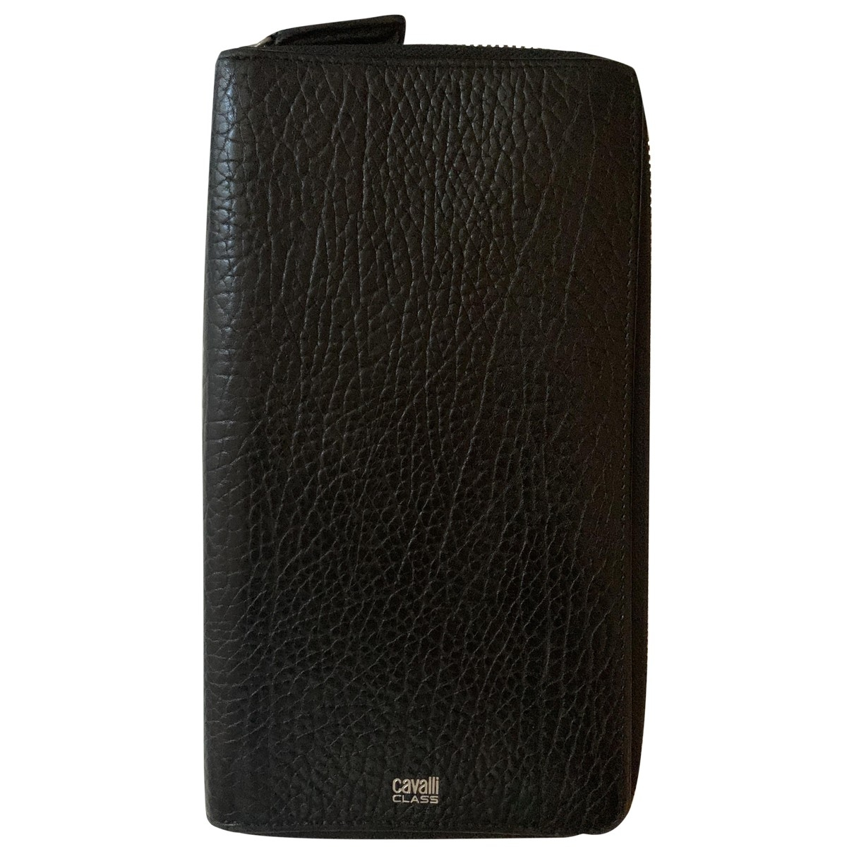 Class Cavalli \N Black Leather Small bag, wallet & cases for Men \N