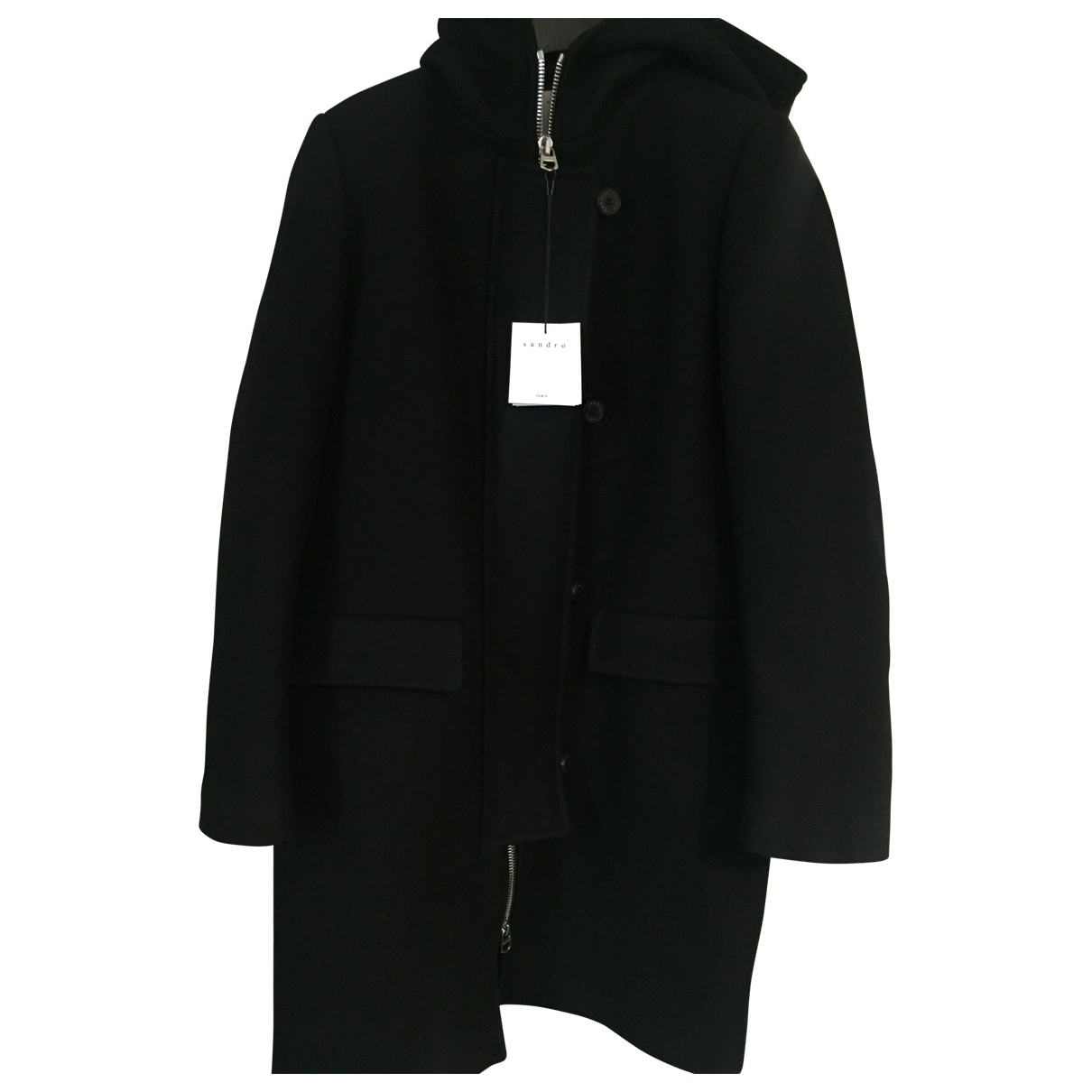 Sandro \N Black Wool coat for Women 36 FR