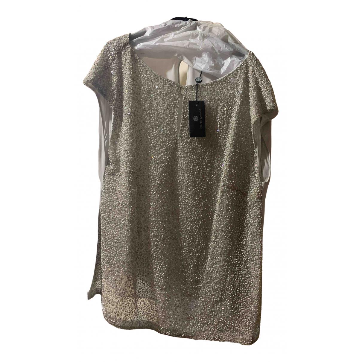 Rena Lange N Silver Silk  top for Women 46 FR