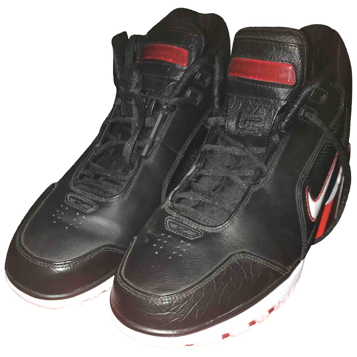 Nike - Ballons   pour lifestyle en cuir - noir