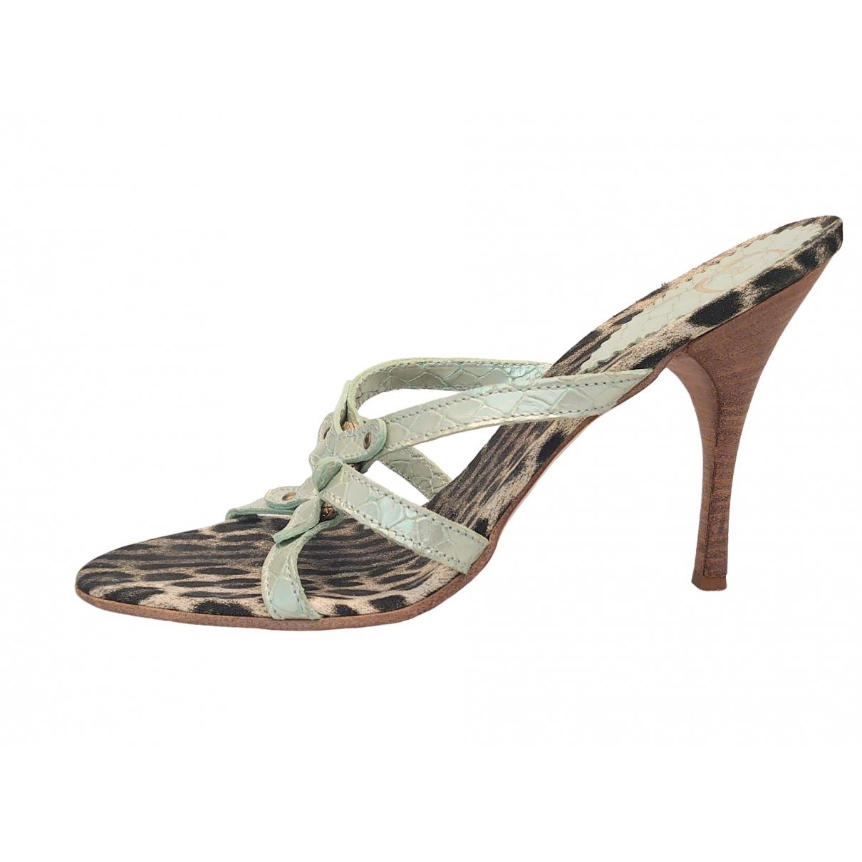 Just Cavalli \N Leather Heels for Women 38 EU