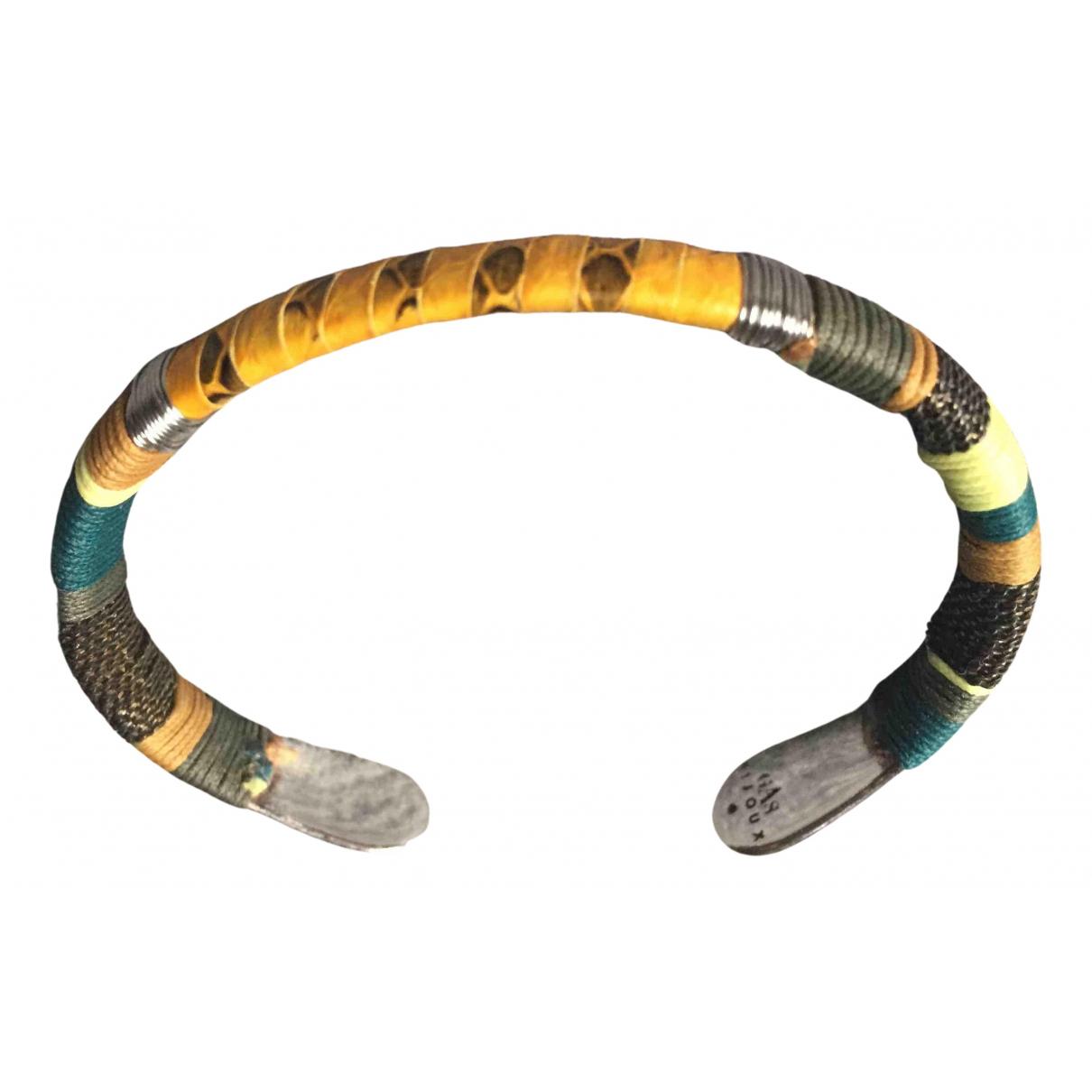 Gas Massai Armband in  Gelb Silber