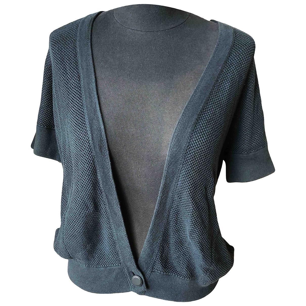 Hermes - Pull   pour femme en coton - anthracite