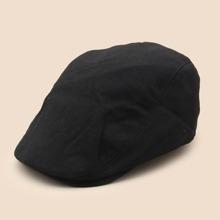 Einfarbiger Newsboy Hut
