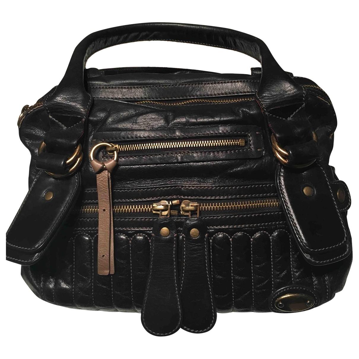 Chloe Bay Handtasche in  Schwarz Leder