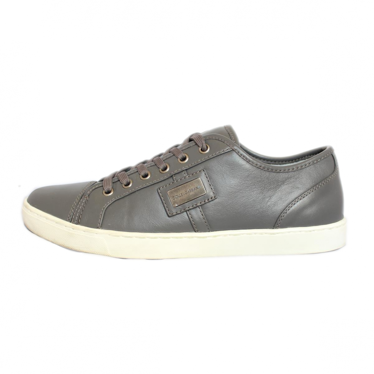 Dolce & Gabbana \N Grey Leather Trainers for Men 41 EU