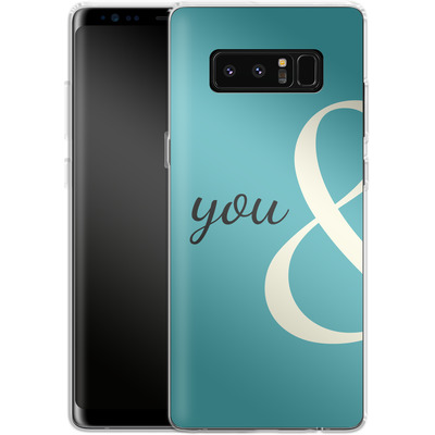 Samsung Galaxy Note 8 Silikon Handyhuelle - You And von caseable Designs