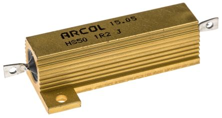Arcol HS50 Series Aluminium Housed Axial Wire Wound Panel Mount Resistor, 1.2Ω ±5% 50W