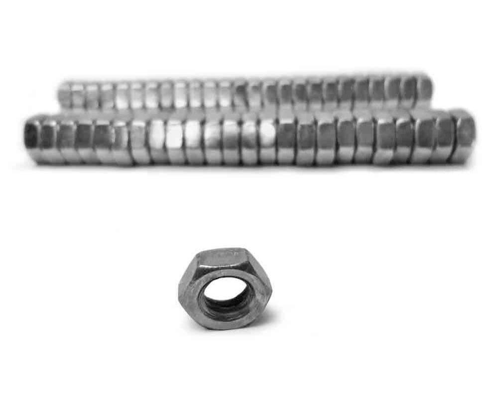 Steinjager J0014342 Nuts Bulk Jam Fasteners, Bulk 3/8-24 RH 50 Pack Grade 2 Plated Zinc Silver