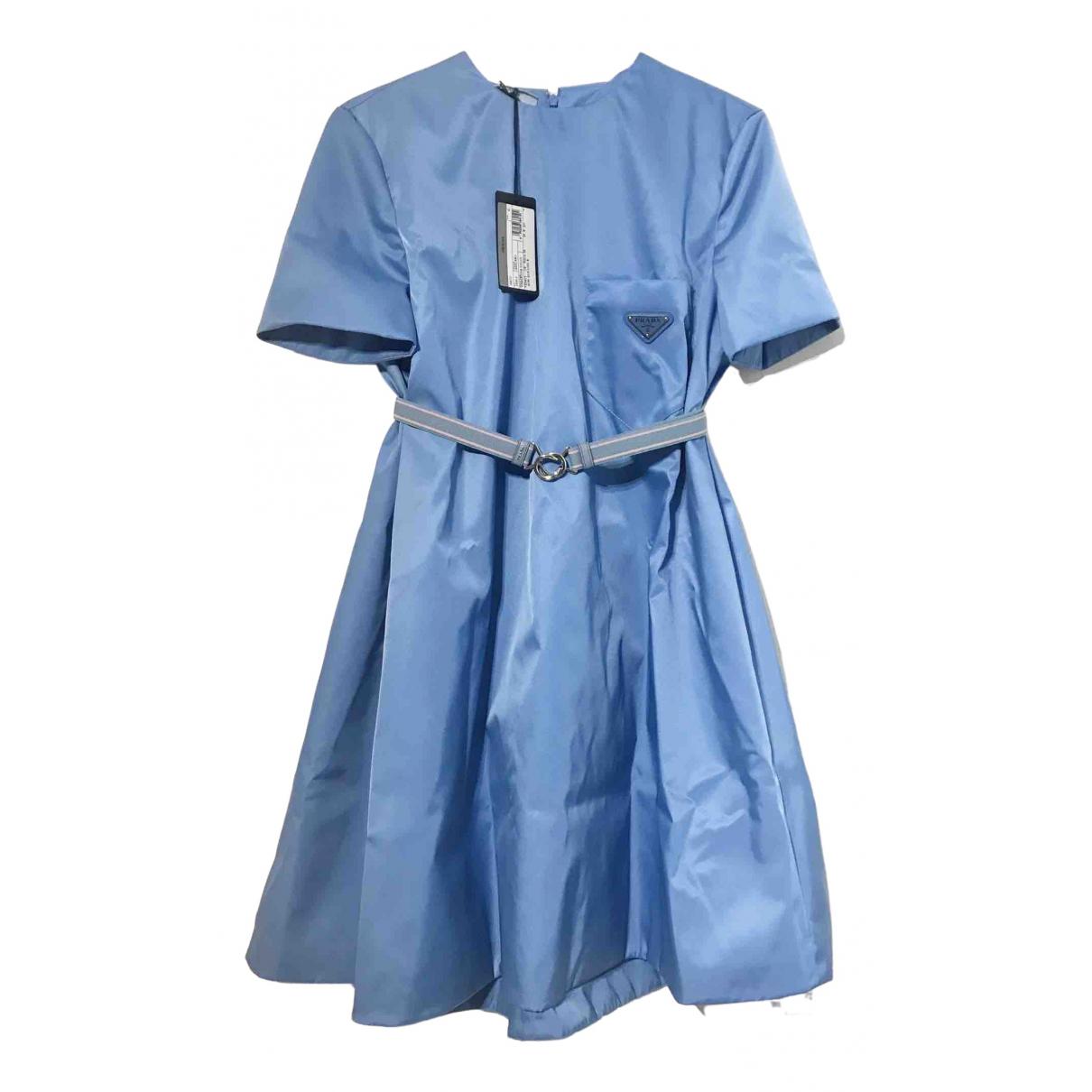 Prada \N Kleid in  Blau Polyester