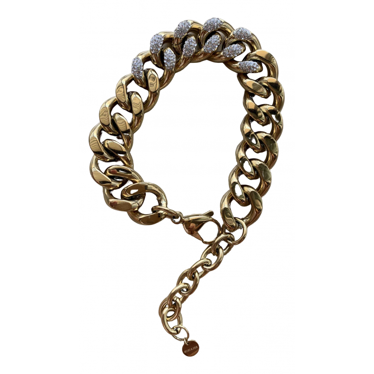 Non Signé / Unsigned Gourmette Gold Metal bracelet for Women \N