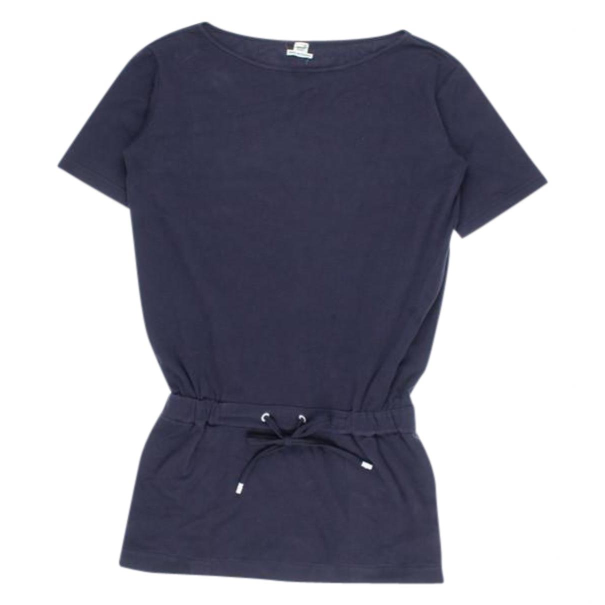 Hermes - Pull   pour femme en coton - marine