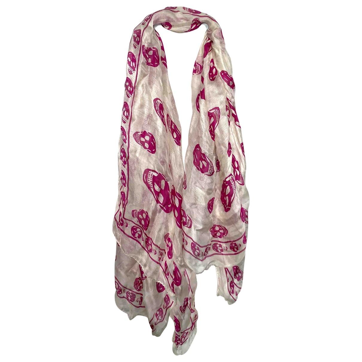 Alexander Mcqueen \N Beige Silk scarf for Women \N