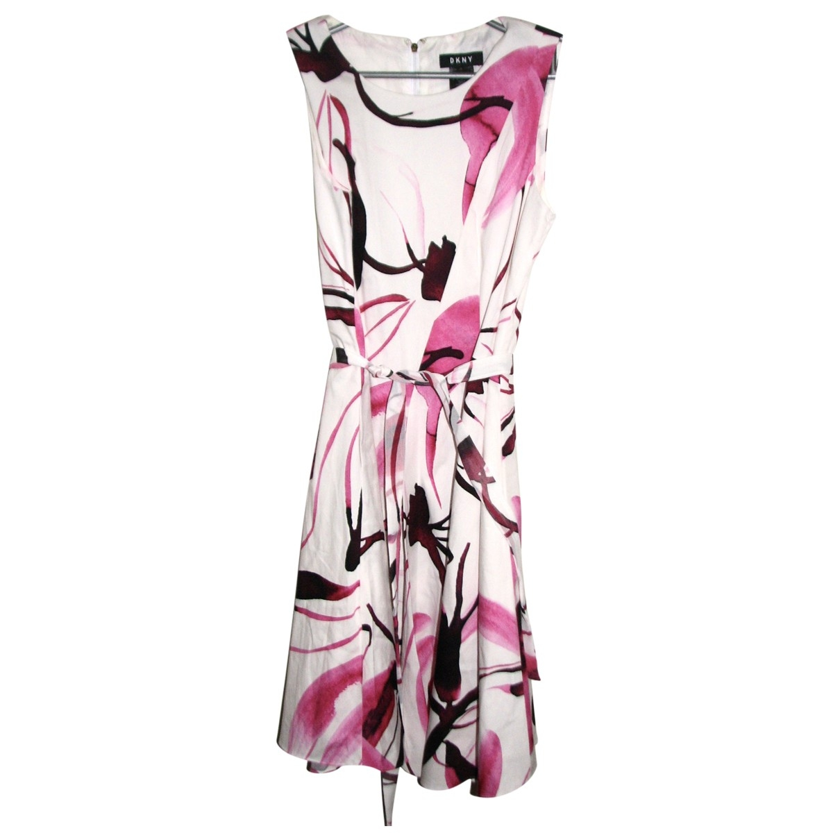Dkny - Robe   pour femme en coton - elasthane - multicolore