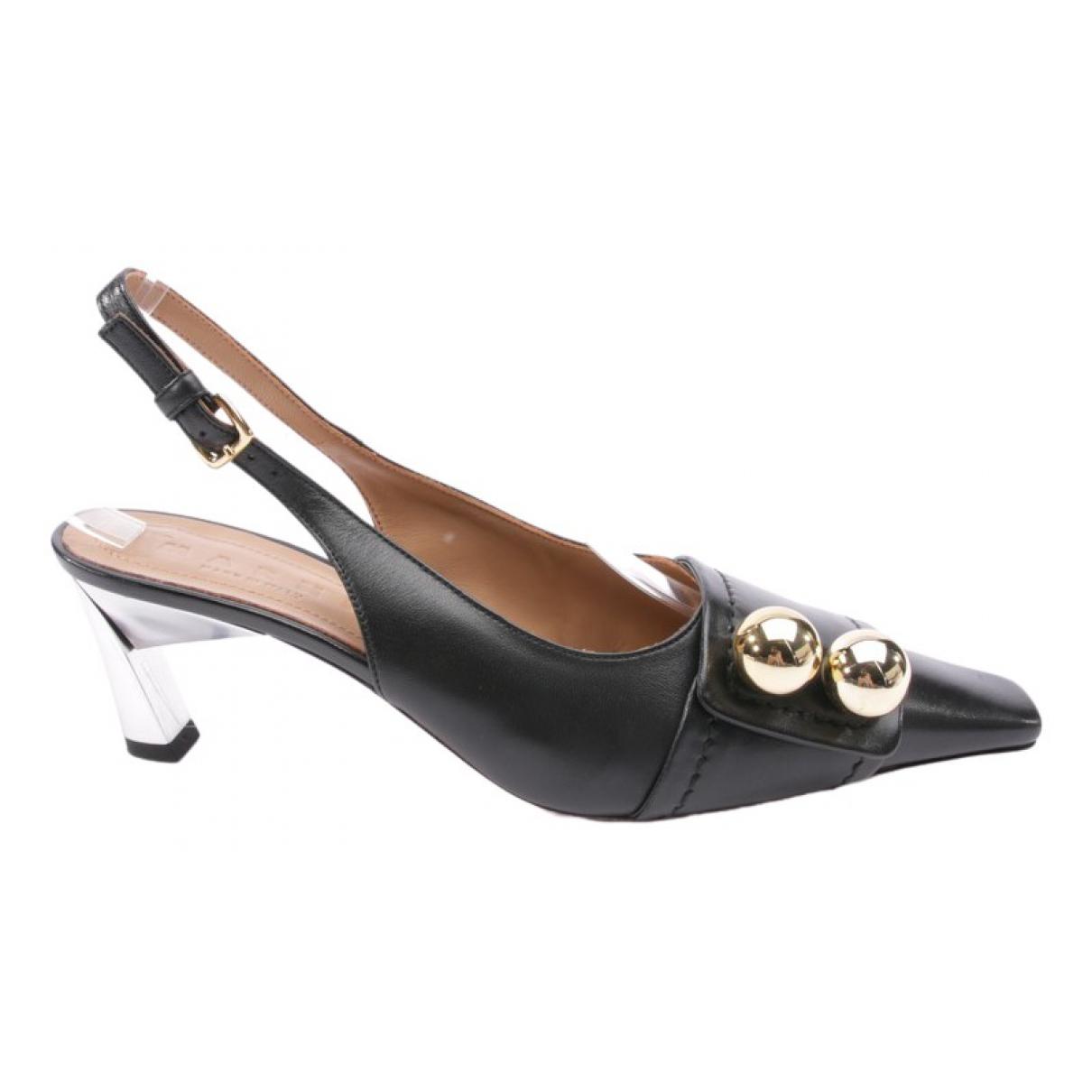 Marni \N Black Leather Heels for Women 38.5 EU