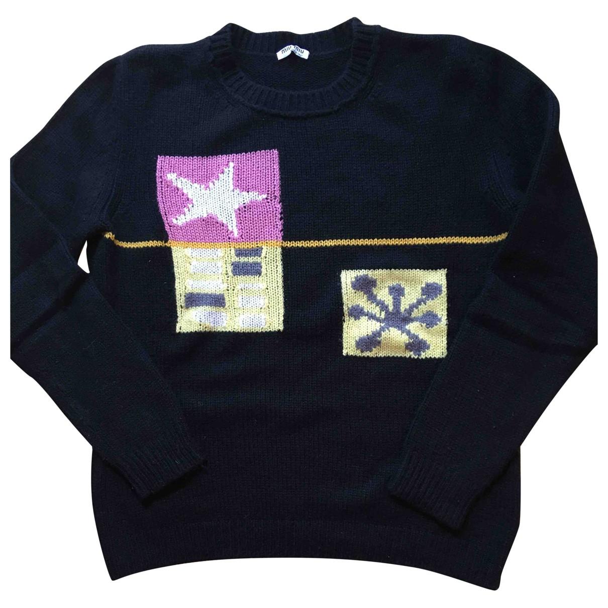 Miu Miu \N Pullover in  Blau Kaschmir