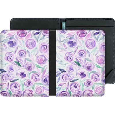 tolino vision eBook Reader Huelle - Purple Rose Floral von Becky Starsmore