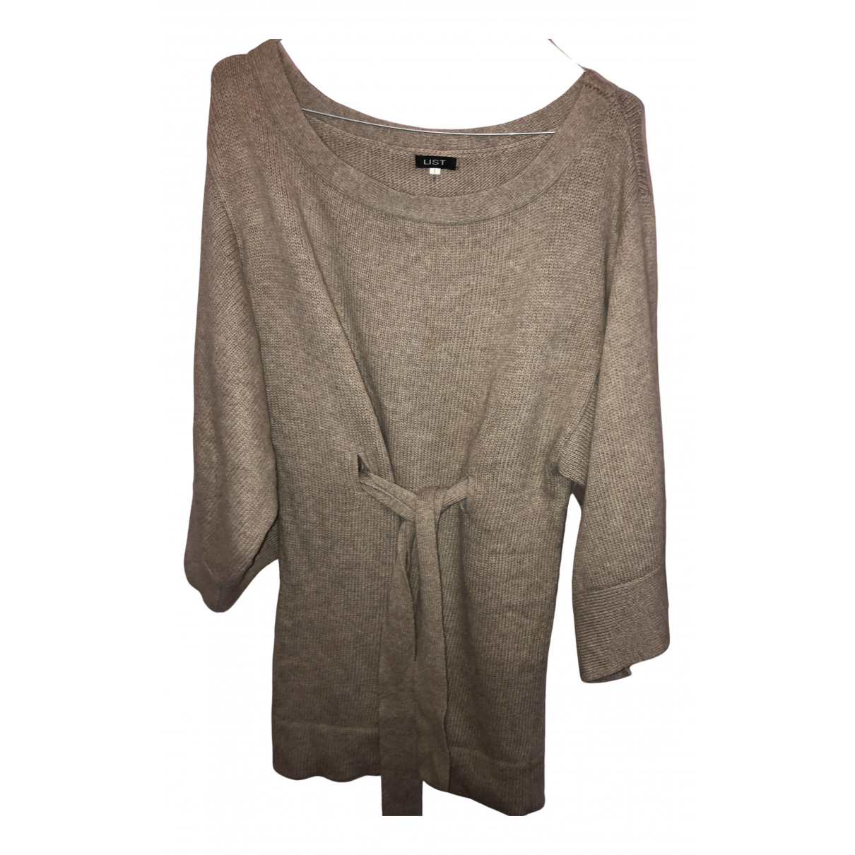 - Pull   pour femme en laine - ecru