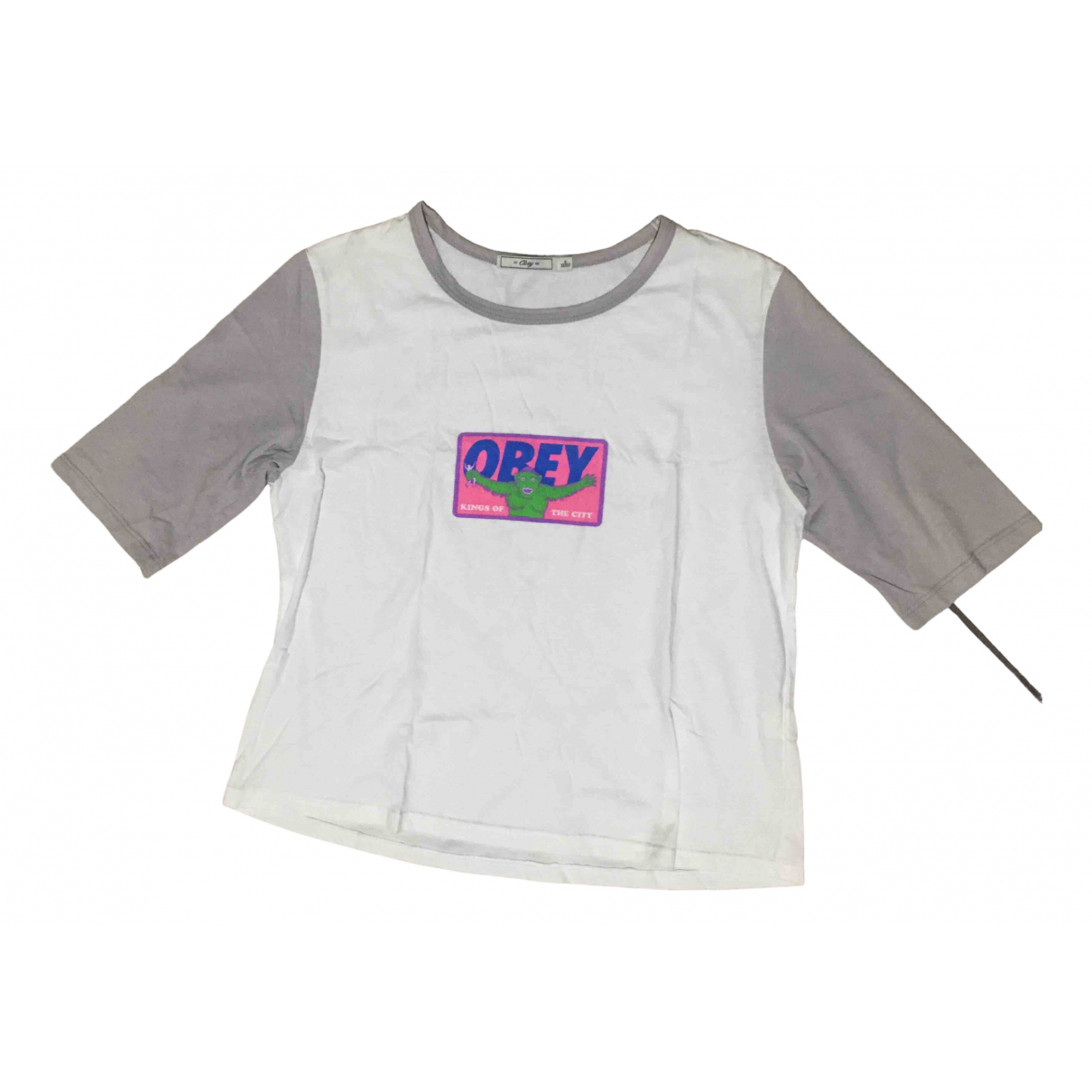 Obey \N White Cotton  top for Women S International