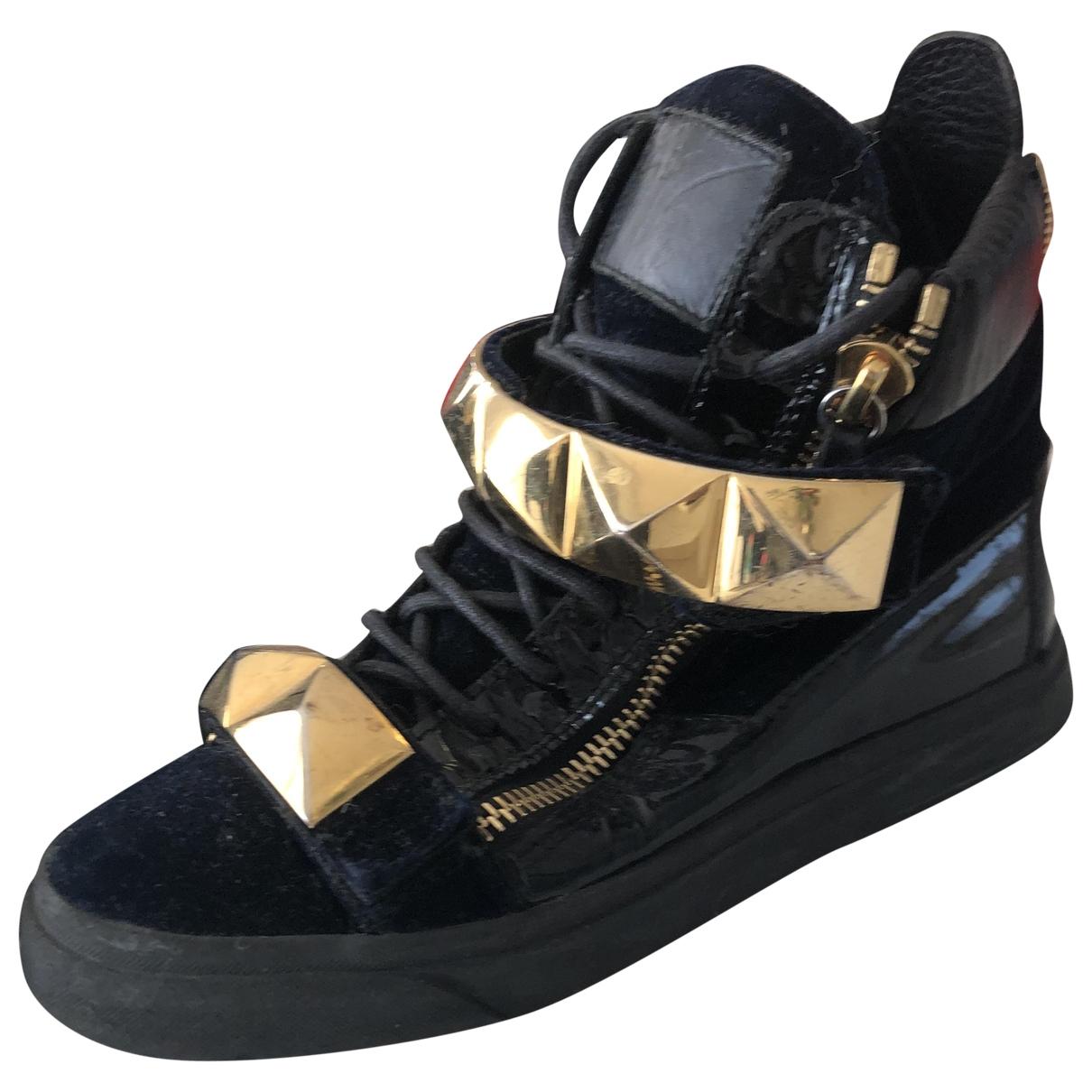 Giuseppe Zanotti - Baskets Donna pour femme en velours - noir