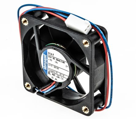 ebm-papst , 24 V dc, DC Axial Fan, 50 x 50 x 15mm, 20m³/h, 900mW