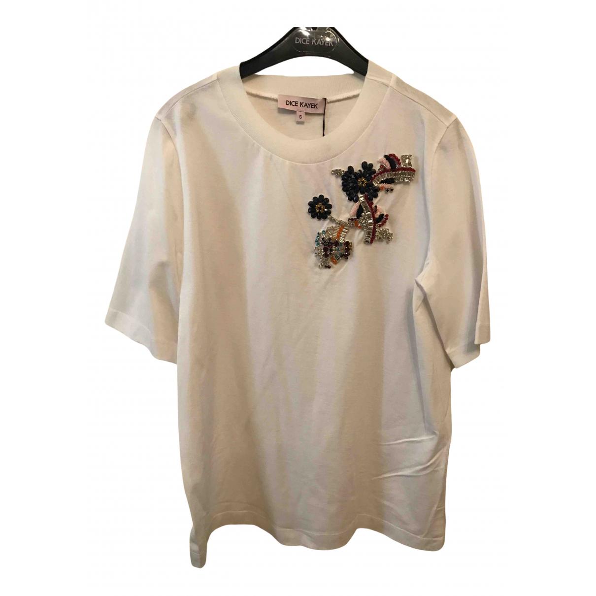 Dice Kayek - Top   pour femme en coton - blanc