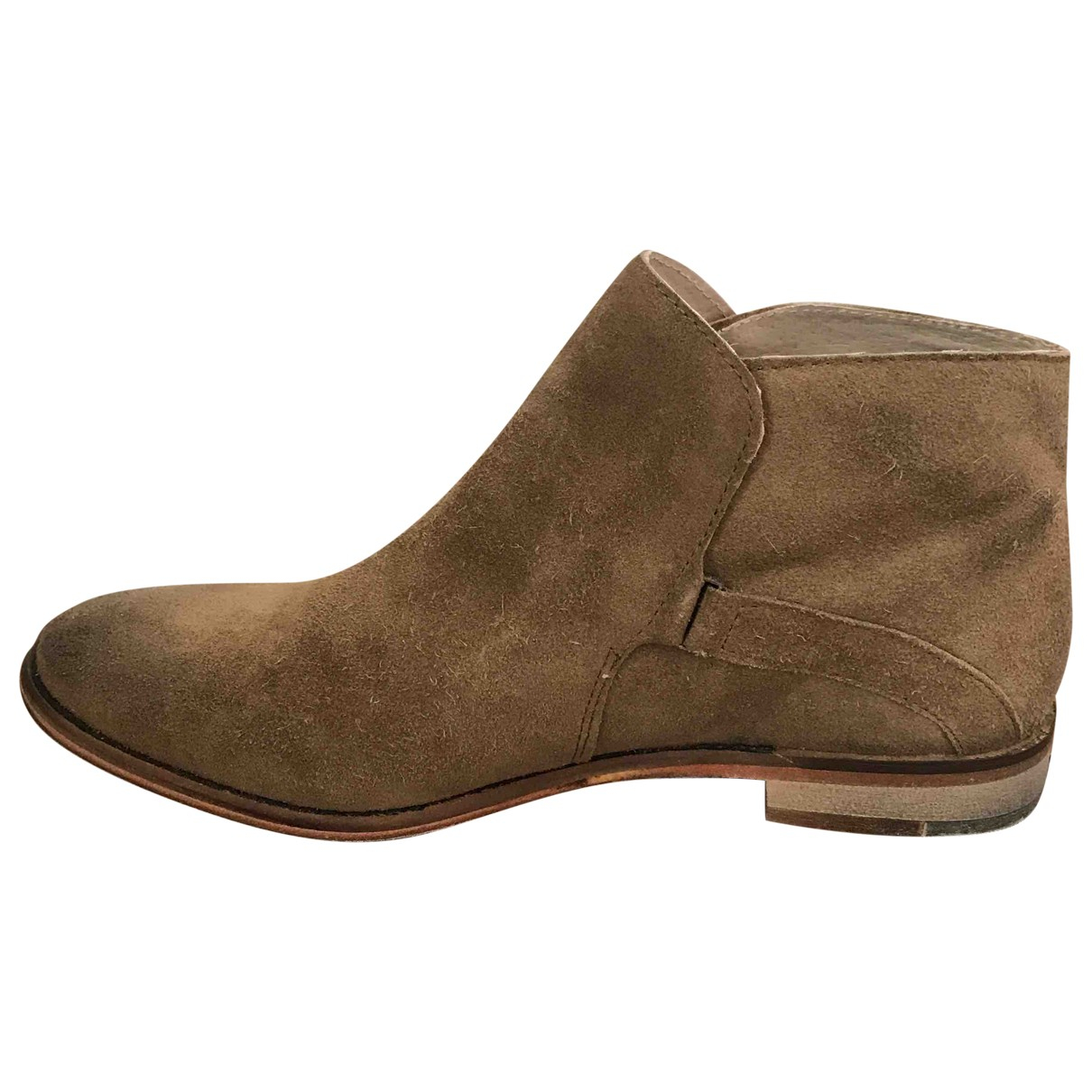 Free People N Beige Suede Boots for Women 5 UK