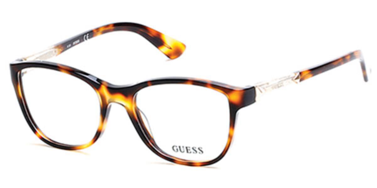 Guess GU 2562 052 Women's Glasses Tortoise Size 51 - Free Lenses - HSA/FSA Insurance - Blue Light Block Available