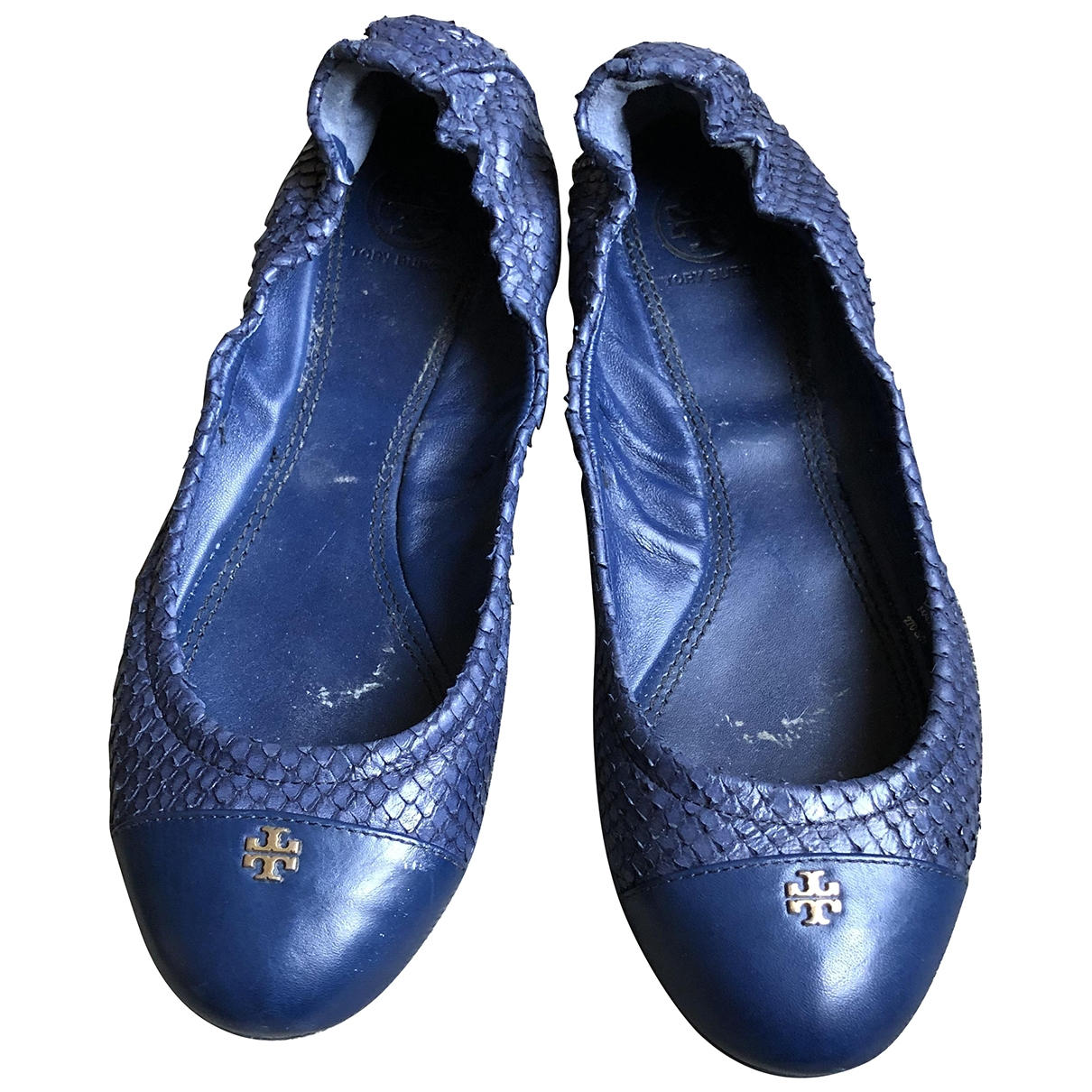 Tory Burch \N Blue Leather Ballet flats for Women 7 US