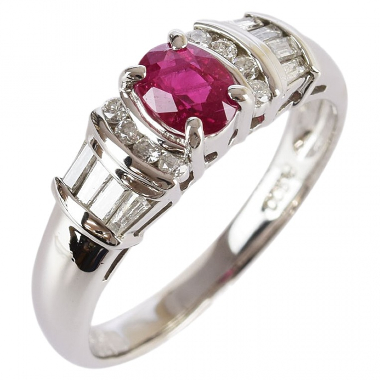 Non Signe / Unsigned \N Ring in  Rosa Platin