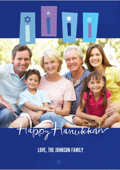 Hanukkah Photo Cards 5x7 Cards, Standard Cardstock 85lb, Card & Stationery -Happy Hanukah Candles