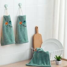 1 Stueck Handtuch mit Blumen Stickereien