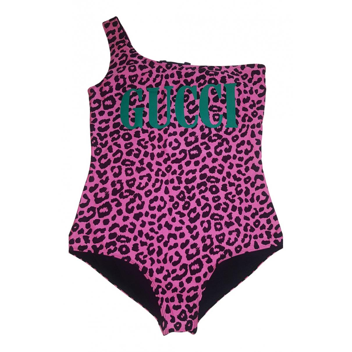Gucci \N Badeanzug in  Rosa Polyester
