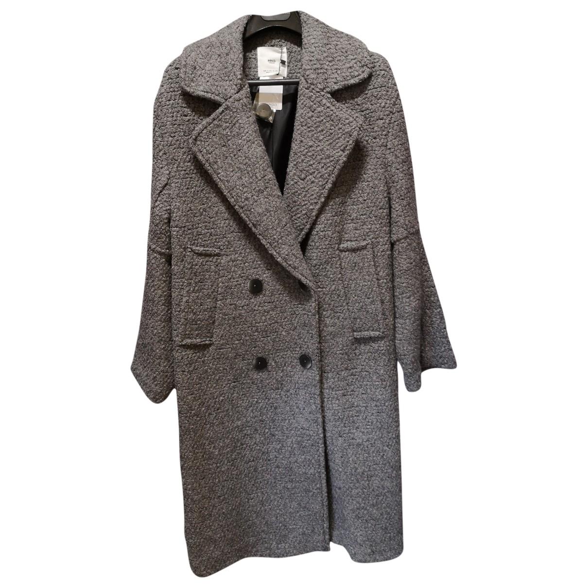 Mango \N Grey Wool coat for Women 36 FR