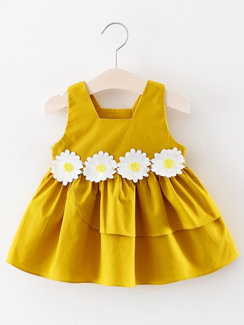 Ericdress Appliques Suspenders Baby Girl's Sleeveless Casual Dress