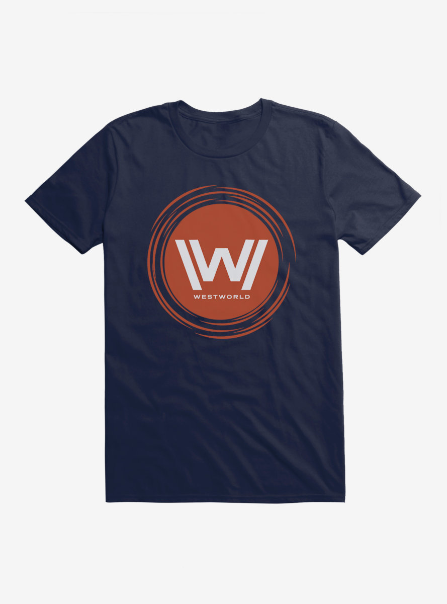 Westworld Orange W Circle Icon T-Shirt