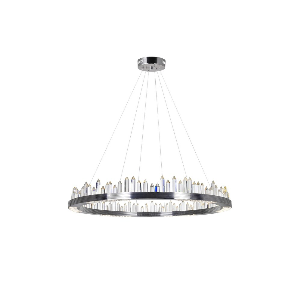 Agassiz LED Chandelier with Polished Nickel Finish - 40-in (40-in - Polished Nickel)