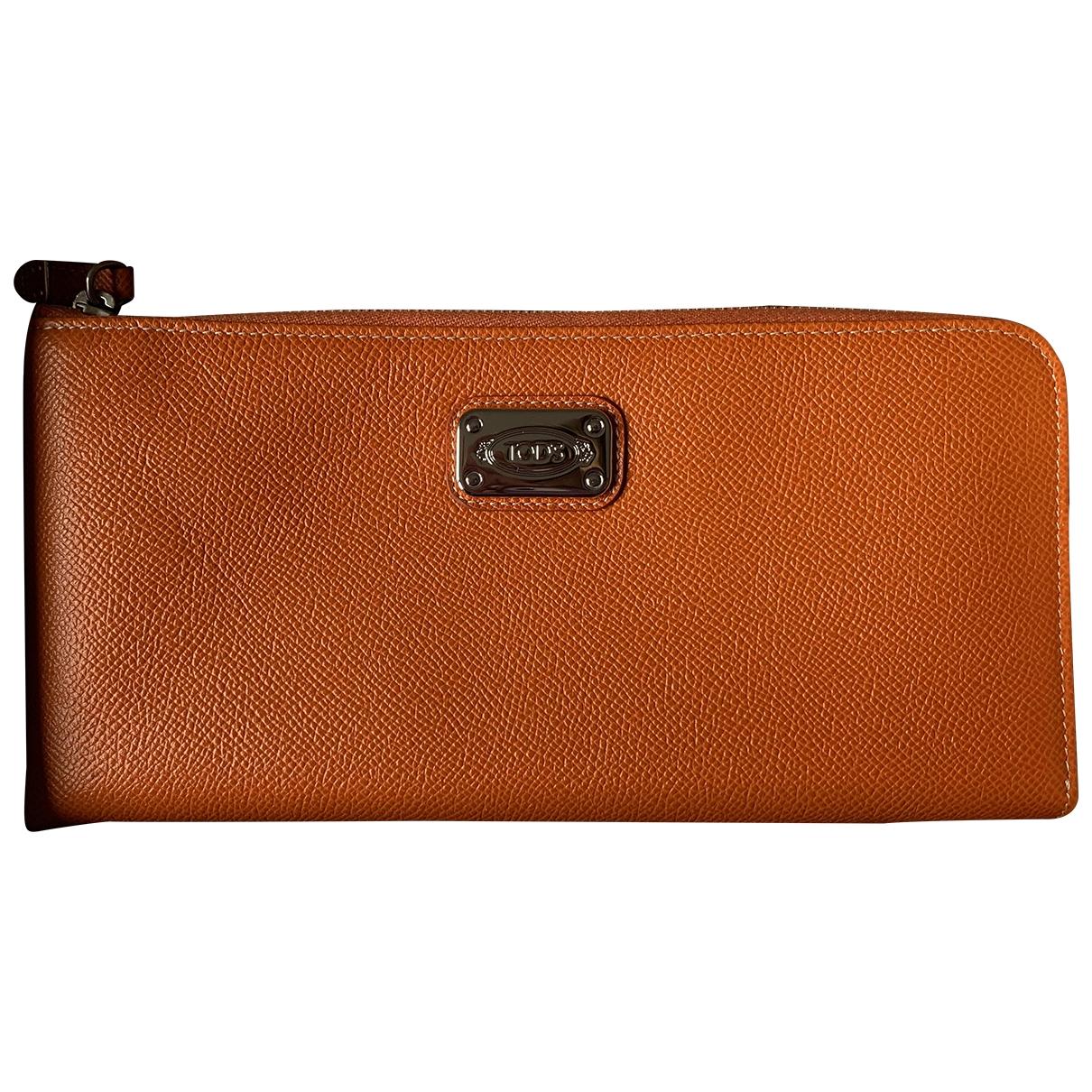 Tods - Portefeuille   pour femme en cuir - orange