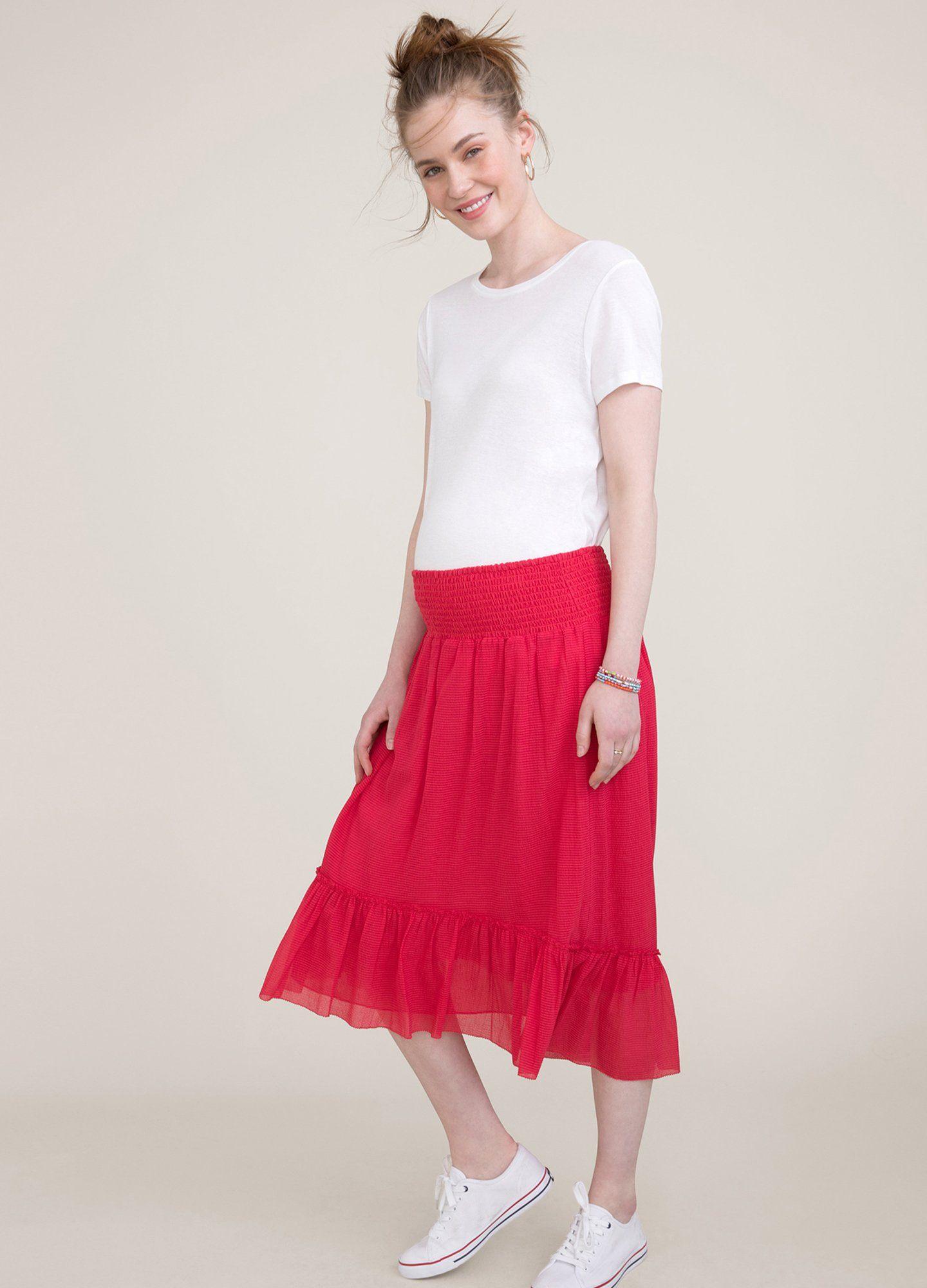 HATCH Maternity The Jelena Skirt, Punch, Size 1