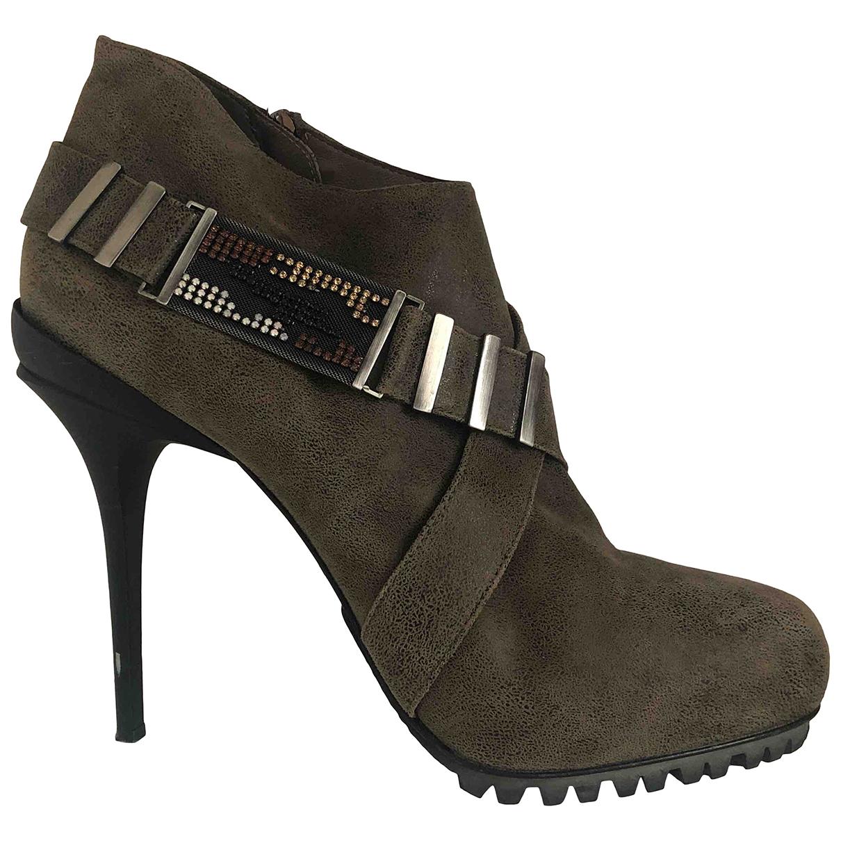 Le Silla \N Khaki Leather Heels for Women 40 EU