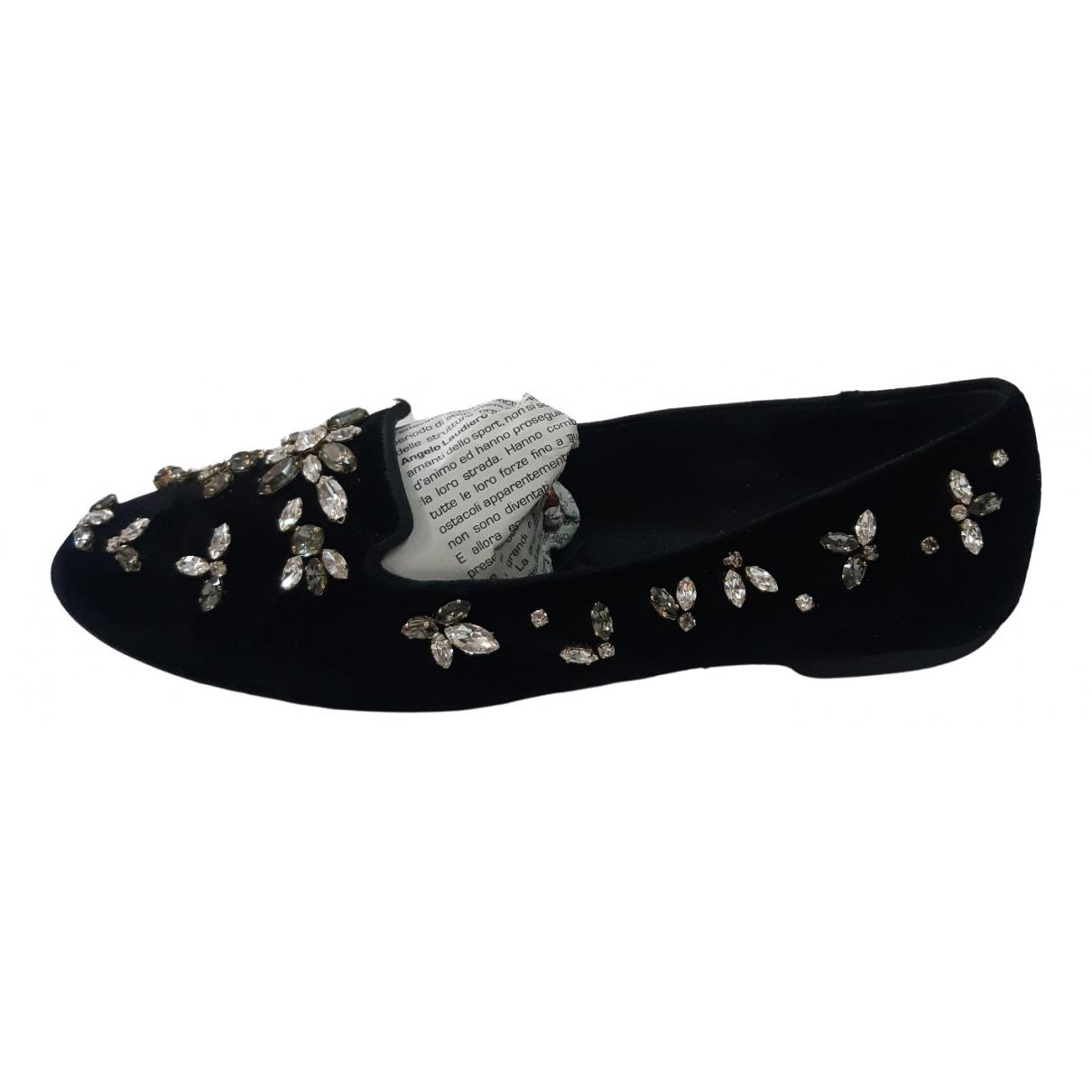Dolce & Gabbana \N Mokassins in  Schwarz Samt