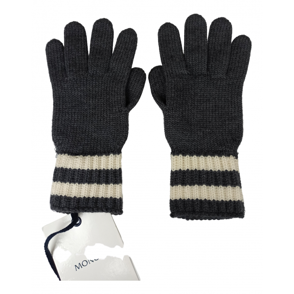 Moncler \N Handschuhe in  Grau Wolle