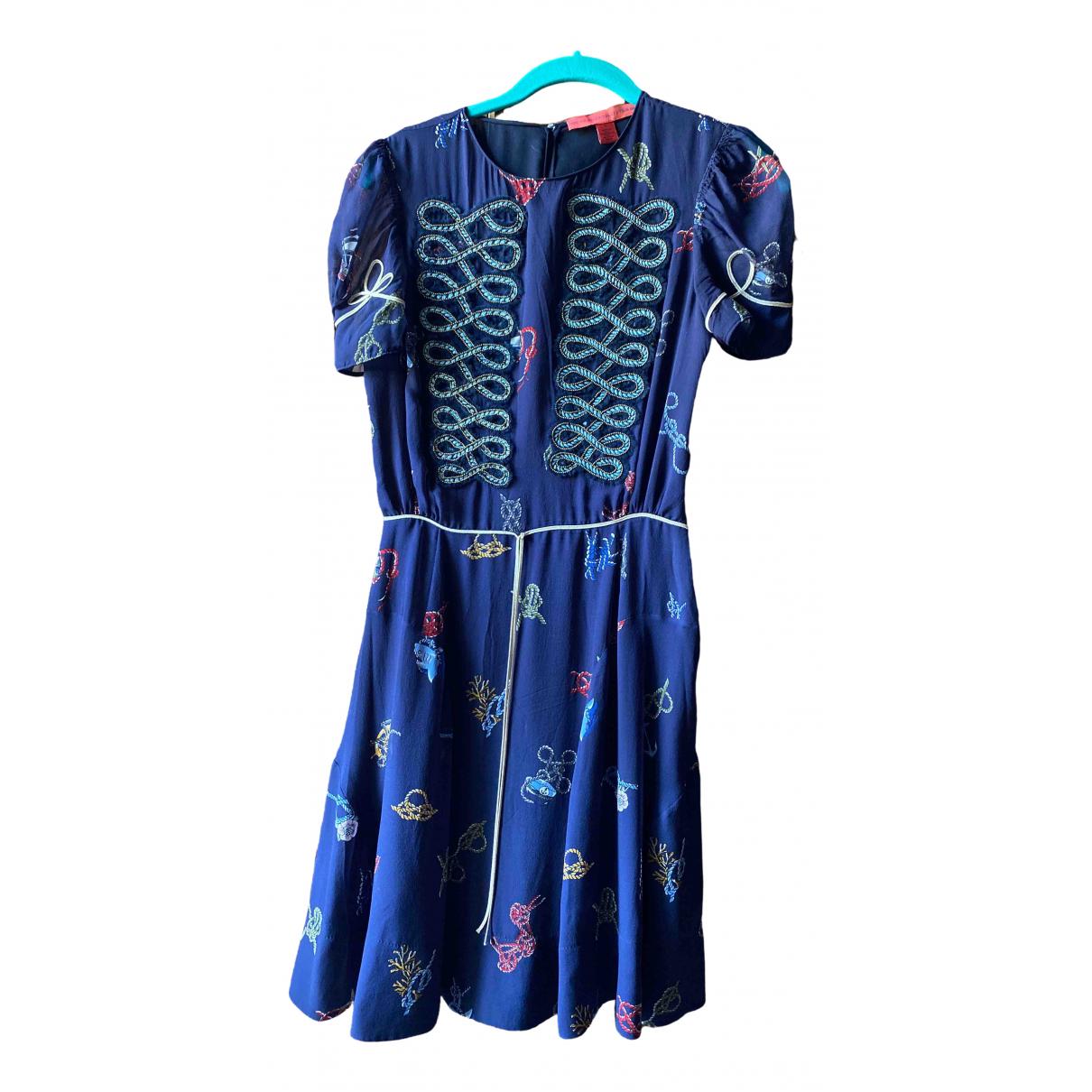 Hilfiger Collection \N Kleid in  Blau Viskose