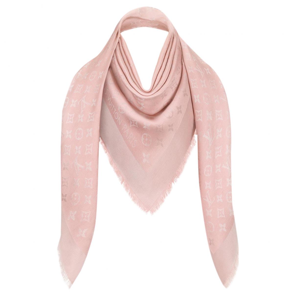 Louis Vuitton - Foulard Chale Monogram shine pour femme en laine - rose
