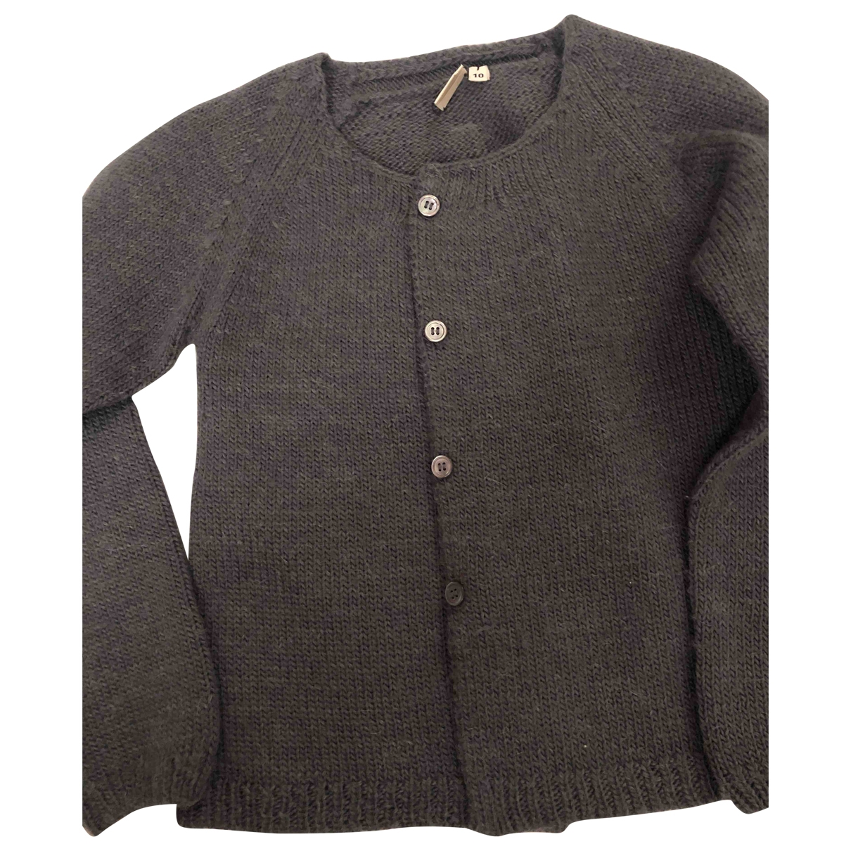 Bonton \N Pullover, StrickJacke in  Grau Wolle